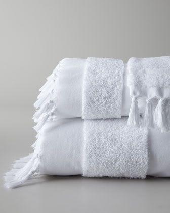 Tassel Towels Made Of 650 Gram Turkish Cotton Terry Cloth Bath