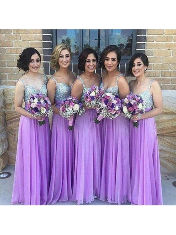 Long Bridesmaid Dress Purple Bridesmaid Dress Sparkly Bridesmaid