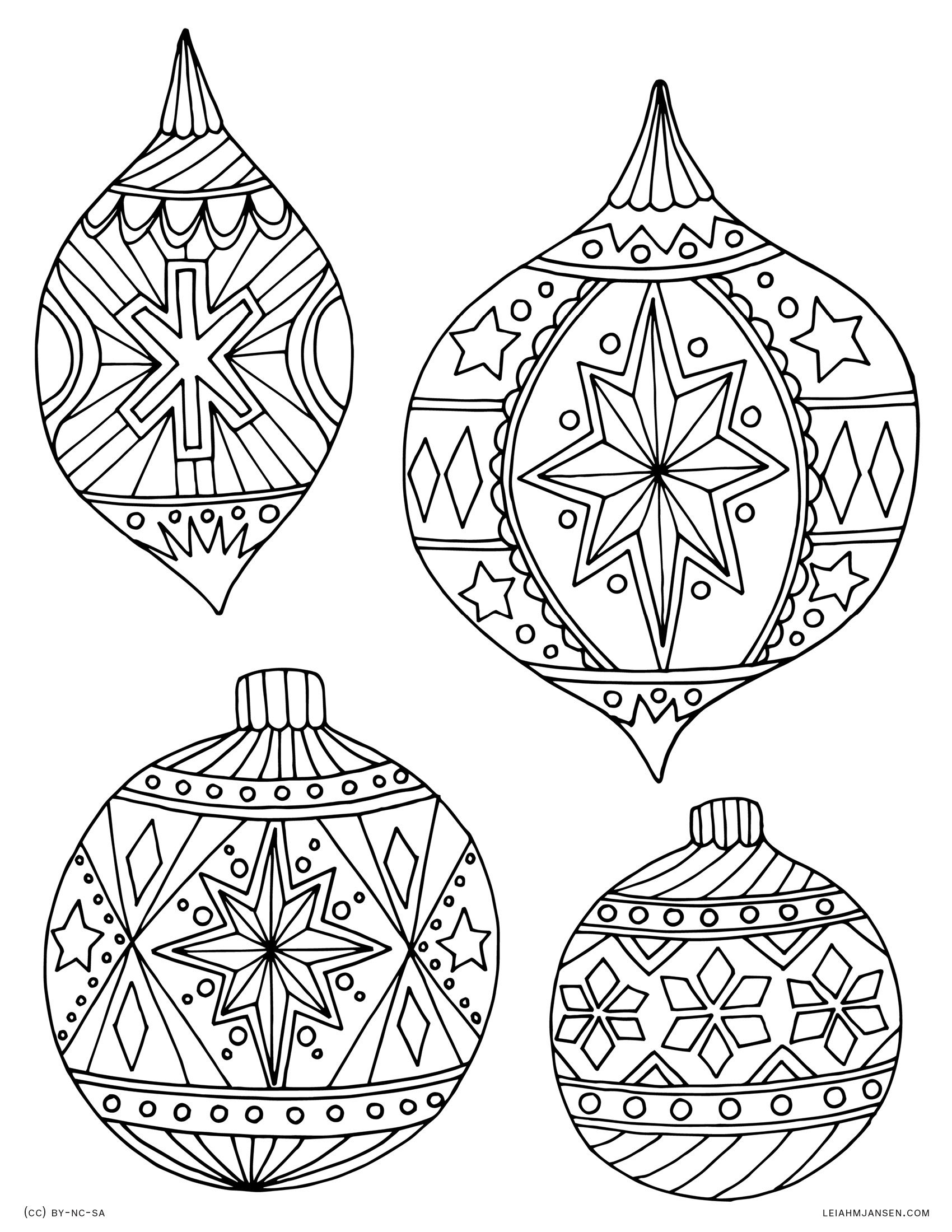 LMJ-coloring-page-holiday-ornaments.jpg (1700×2200) | Christmas ...