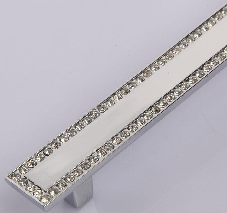 Lade In Kast.Cc Grootte 64mm Kristal Kast Knoppen Voor Meubels Glas