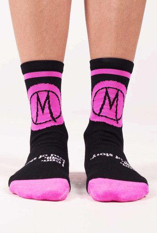 QUEEN OF THE MOUNTAIN 'hyper pink' Socks