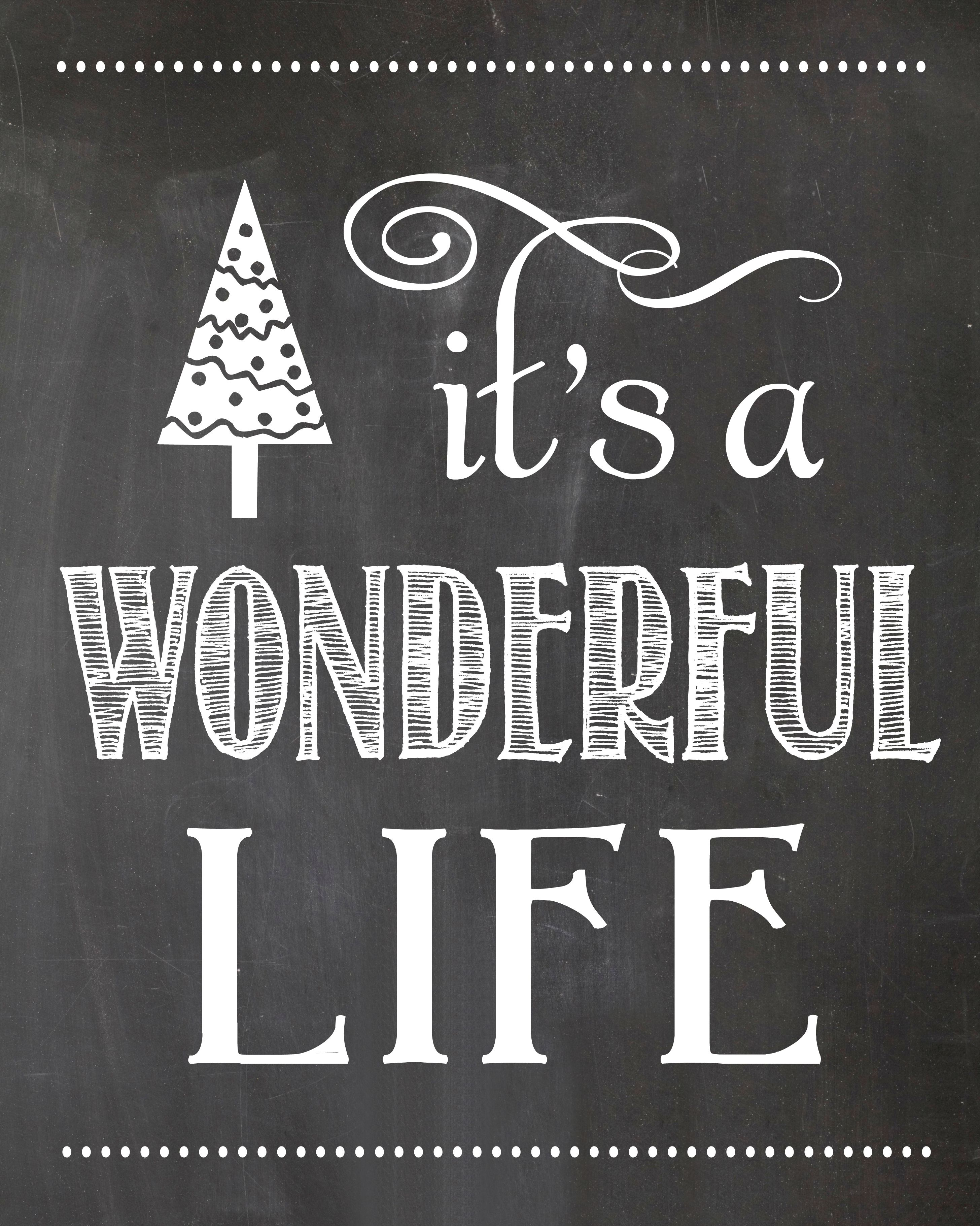 it's a wonderful life chalkboard printable | simplykierste.com