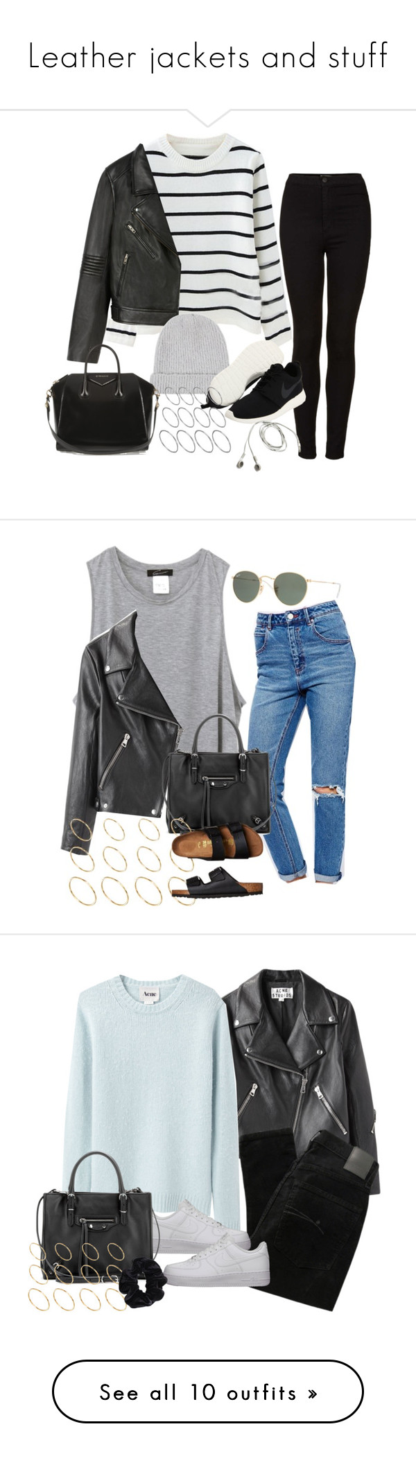 """""""Leather jackets and stuff"""" by alx97 liked on Polyvore"""