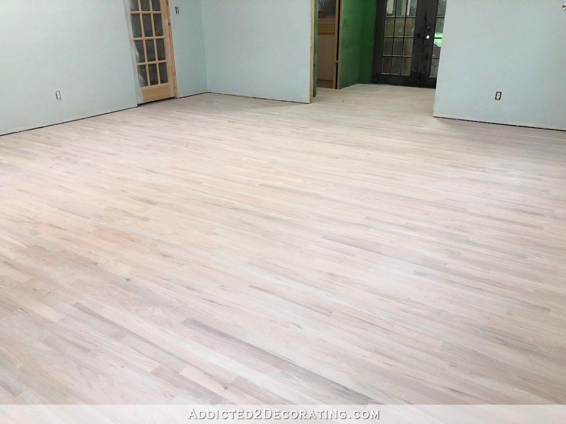 Diy Whitewashed Red Oak Studio Floor Part 1 Addicted 2 Decorating Red Oak Wood Floors Red Oak Hardwood Floors Red Oak Floors