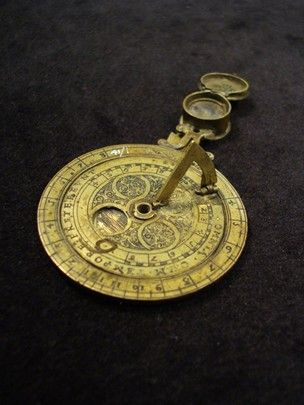 Sun Amp Moondial Sundial Antique Clocks Compass Dial