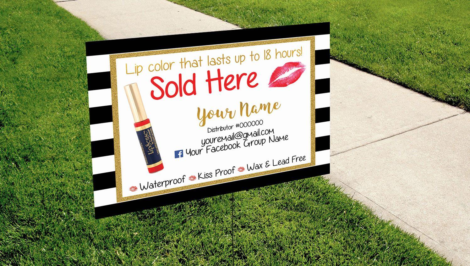 Custom Yard Sign For Your Lipstick Sale Modern Kakaodesigns