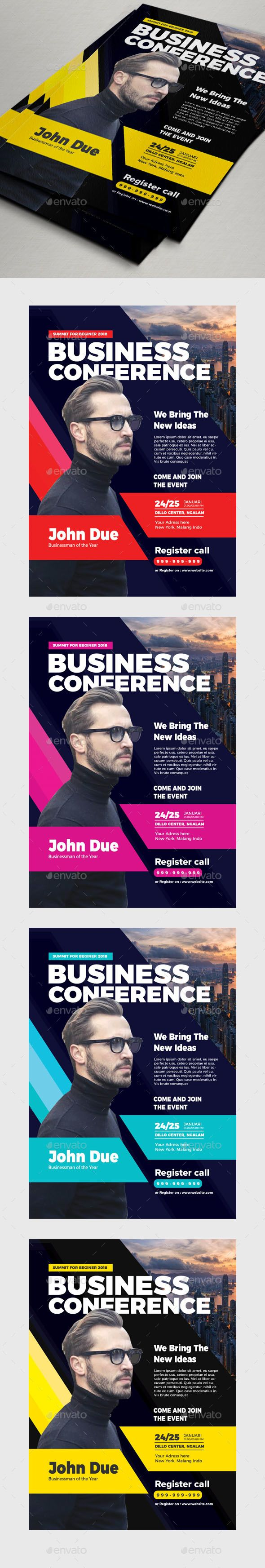 Business Conference Flyer  Flyer Template Business And Template