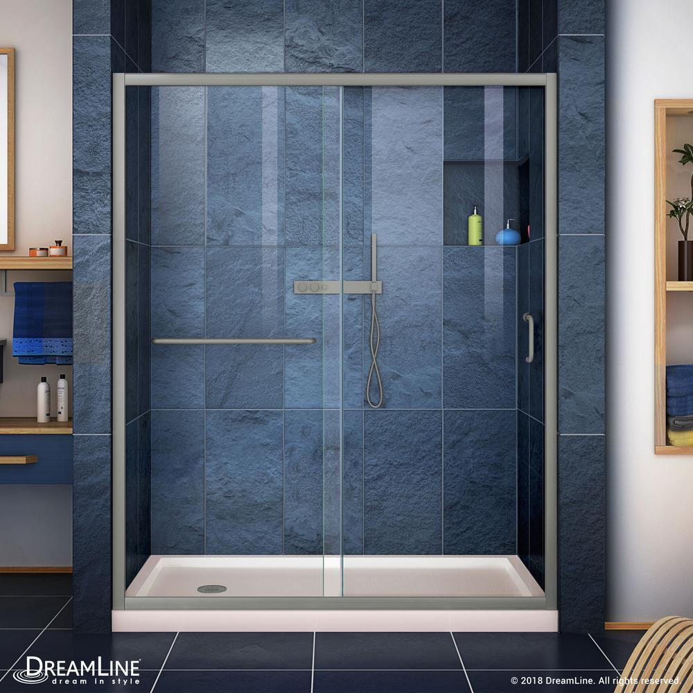 Dreamline Infinity Z 32 In X 60 In Semi Frameless Sliding Shower