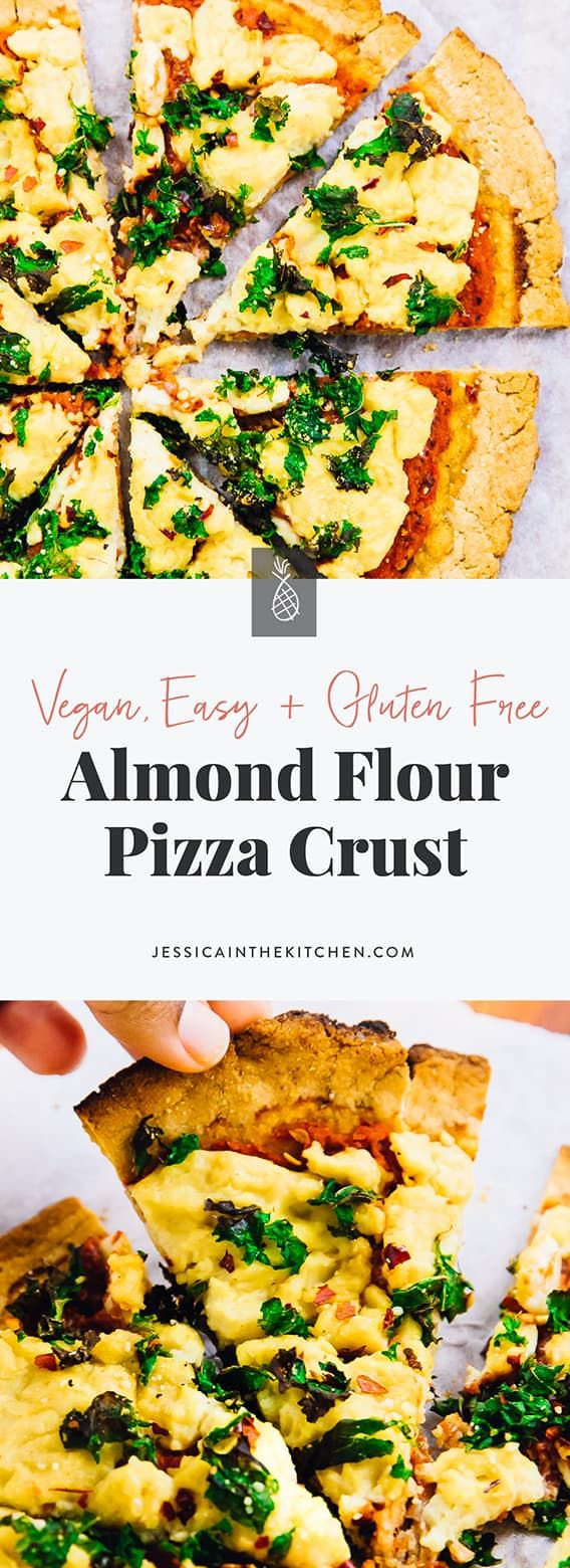 Easy Vegan Almond Flour Pizza Crust (Gluten Free & Low Carb)