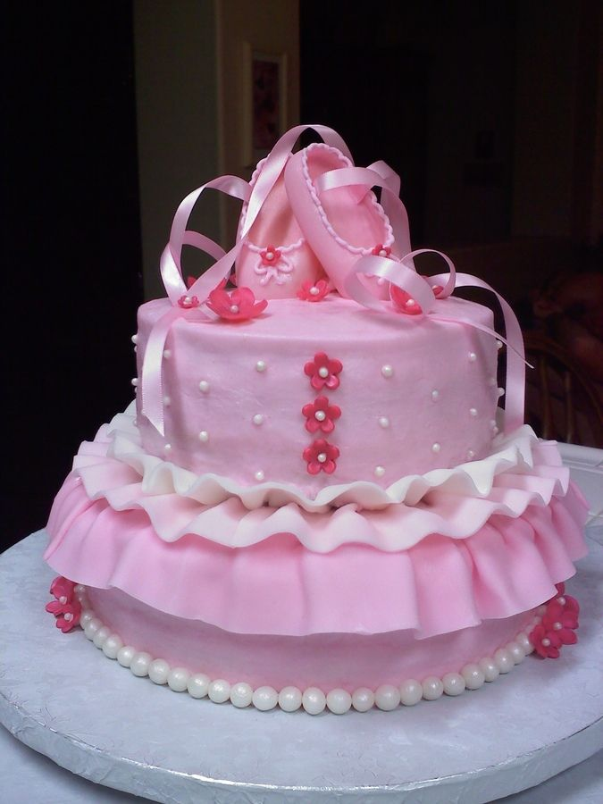 This cake is so adorable I'm so obsessed with the ballerina theme