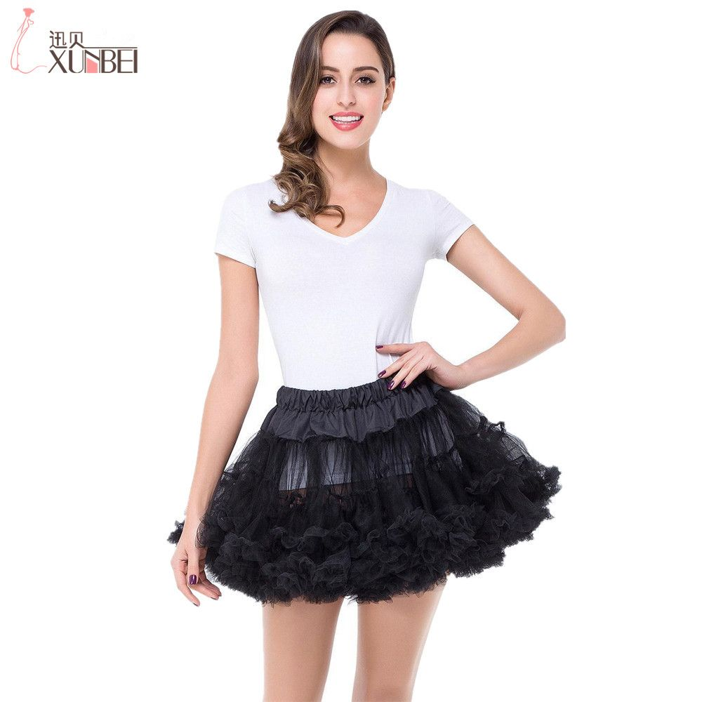 Heißer Verkauf Multi Color Petticoats Tüll Unterrock Kurze Röcke für ...