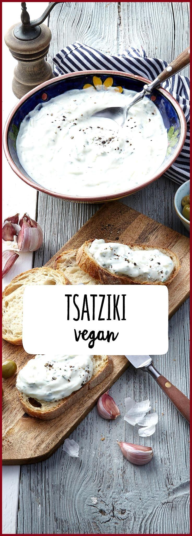 Veganer Tsatziki #Fitness food illustration #Fitness food low carb #Tsatziki #Veganer