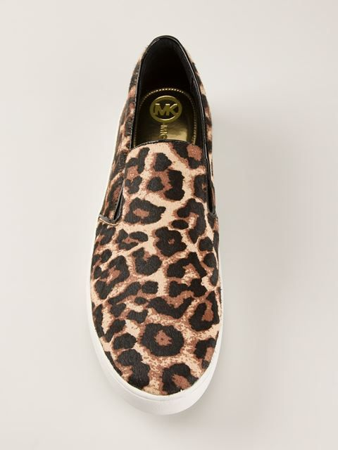 d9cf143c4d7 Shop Michael Kors  Keaton  leopard print slip-on sneakers in Papini from the