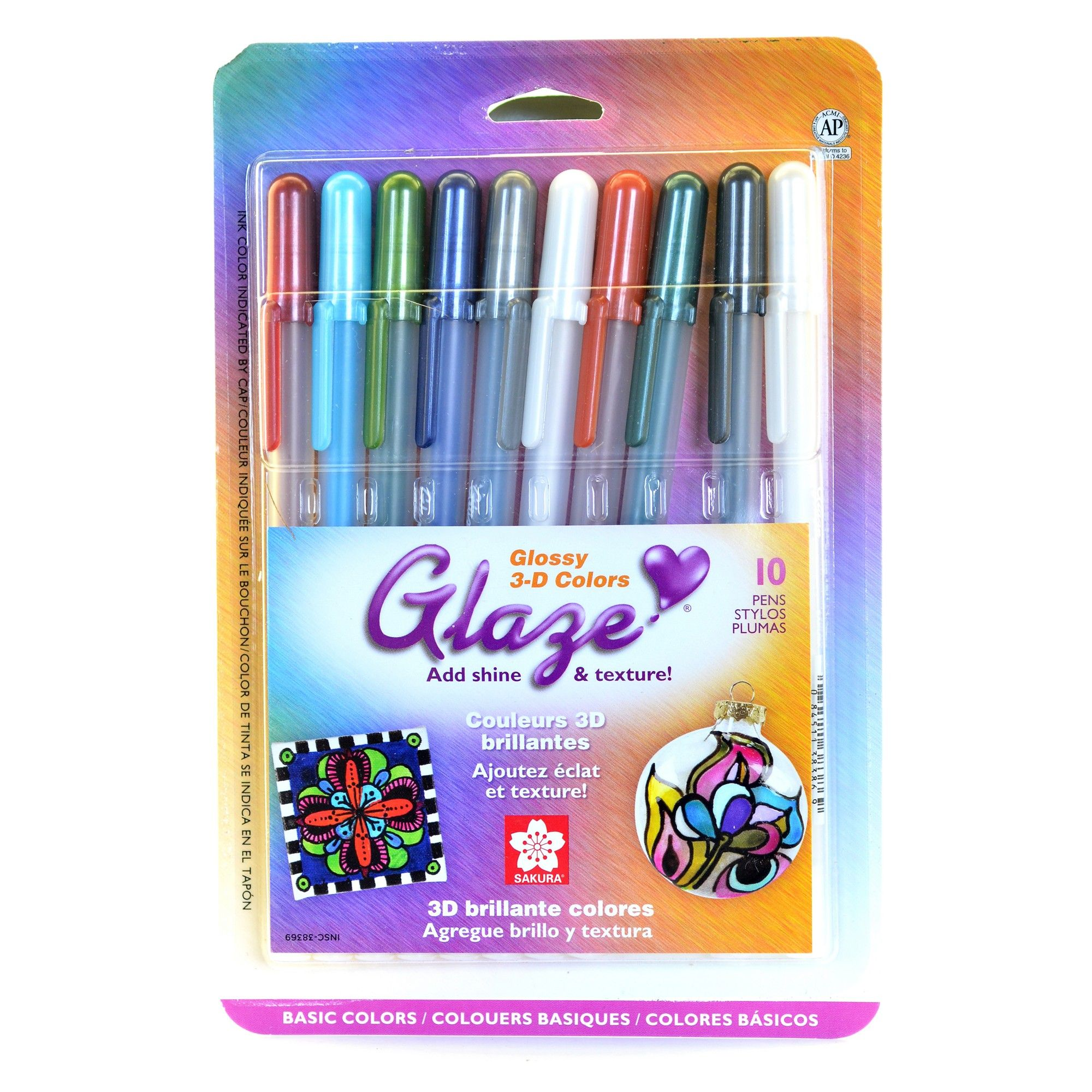 10ct Glossy 3d Colors Glaze Gel Pen Set Multicolor Gel Pens Set Gel Pens Pen Sets