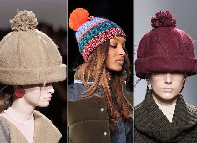 Fall/ Winter 2014-2015 Headwear Trends: Pom-Pom Hats  #hats #headwear