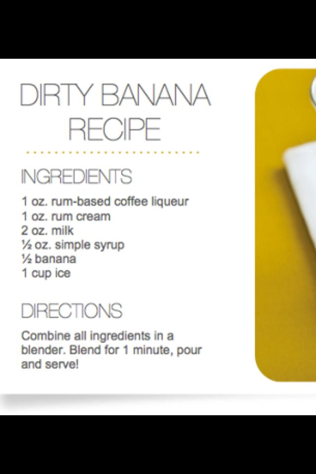 Dirty Banana recipe courtesy of Sandals | Foodie ...