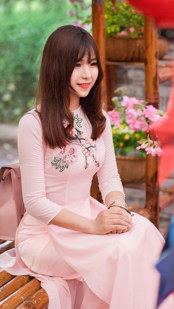 Pin by super big on Vietnamese long dress 2   Long white