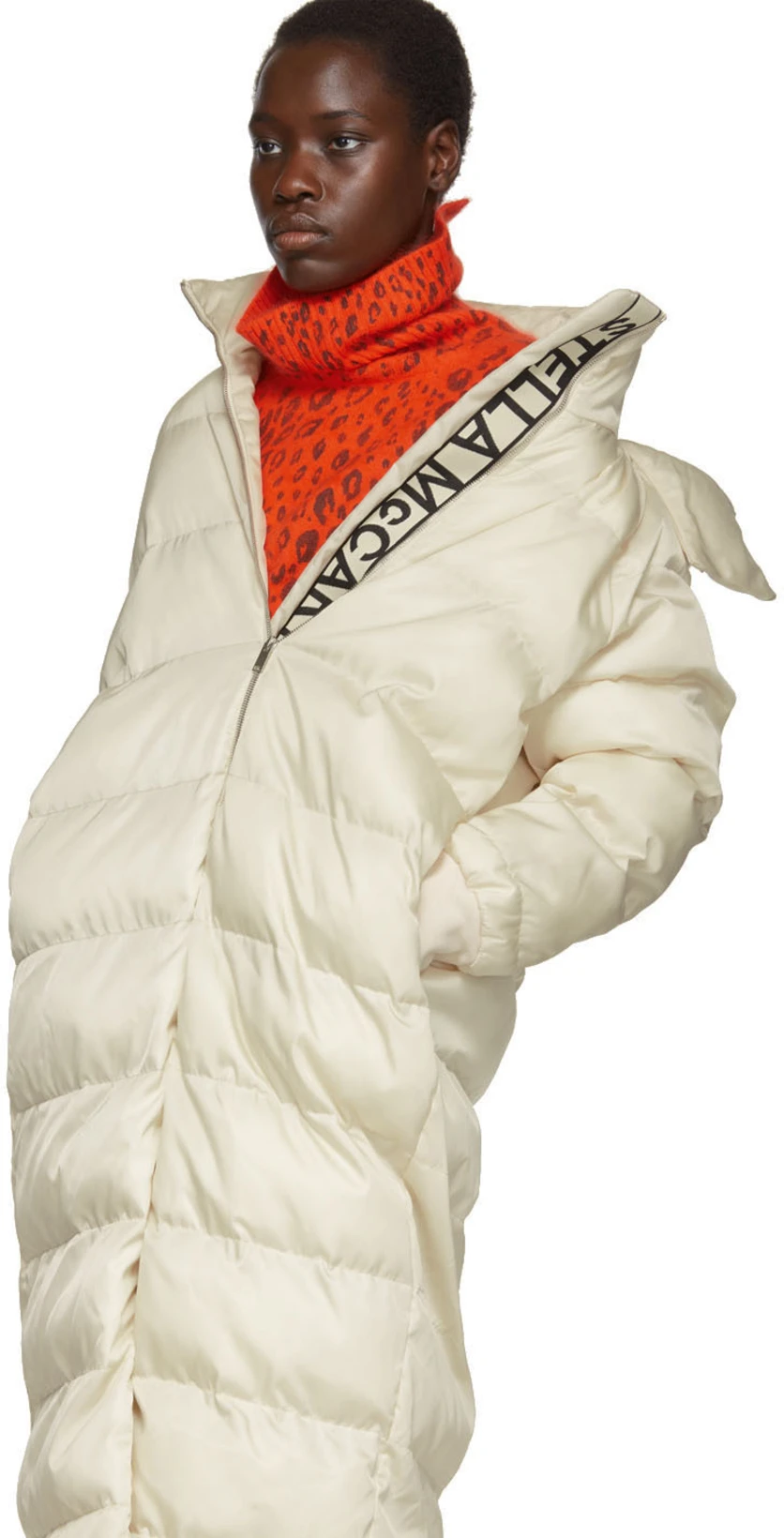 Stella Mccartney White Quilted Puffer Coat Ssense Stella Mccartney Puffer Coat Stella [ 1640 x 836 Pixel ]