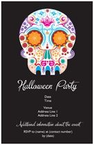 Invitations Announcements Day Of The Dead Sugar Skulls Day Of - Day of the dead party invitation template