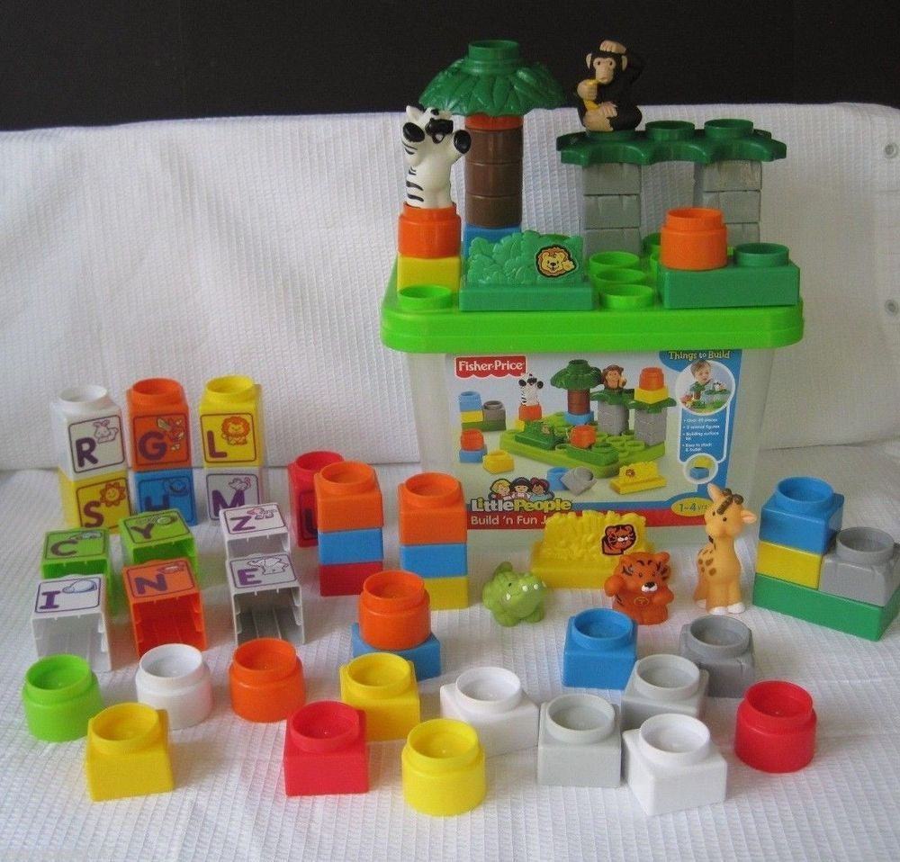 Fisher Price LITTLE PEOPLE Build N Fun Jungle Alphabet Building ...