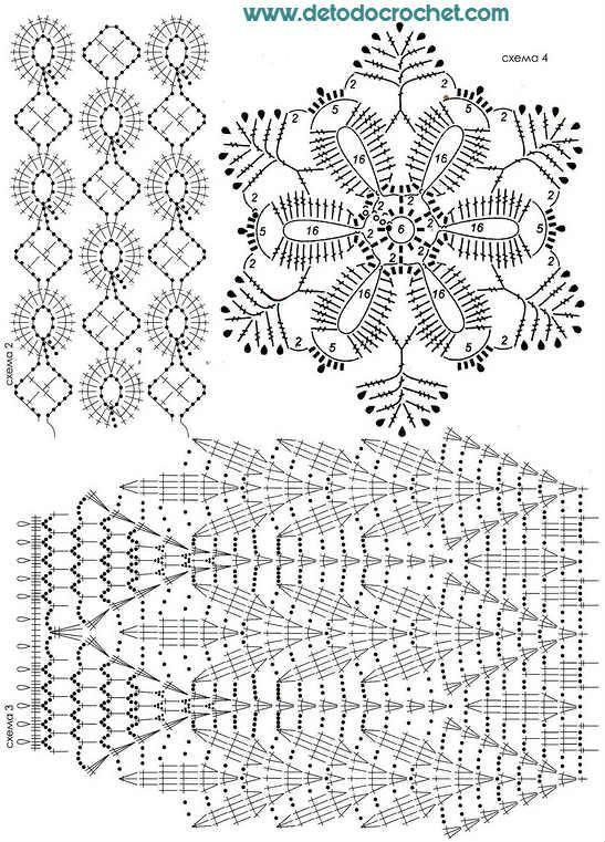 Todo crochet | top | Crochet, Crochet stitches y Crochet Motif
