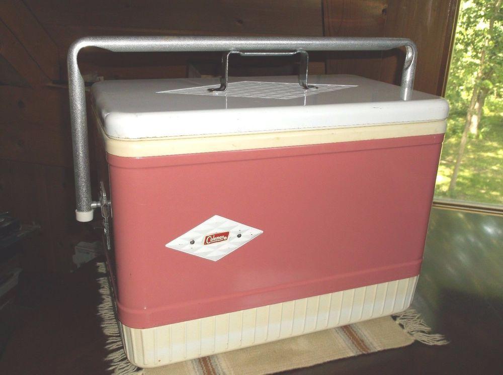 Vintage Coleman Cooler Ice Chest Pink