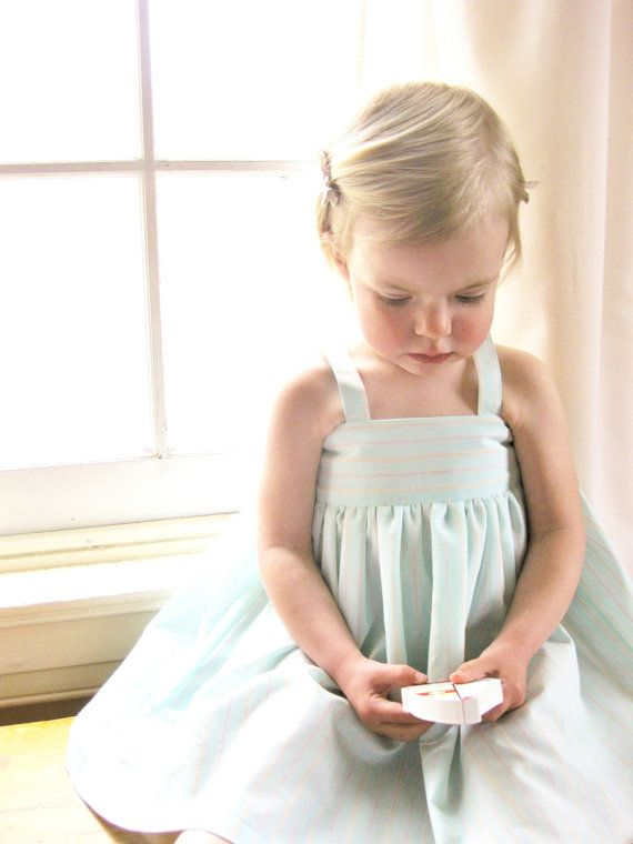 Toddler Girls Mint Dress - Girls Aqua Dress - Toddler Girl Clothes - Seafoam Dress with Pockets on Etsy, $54.00