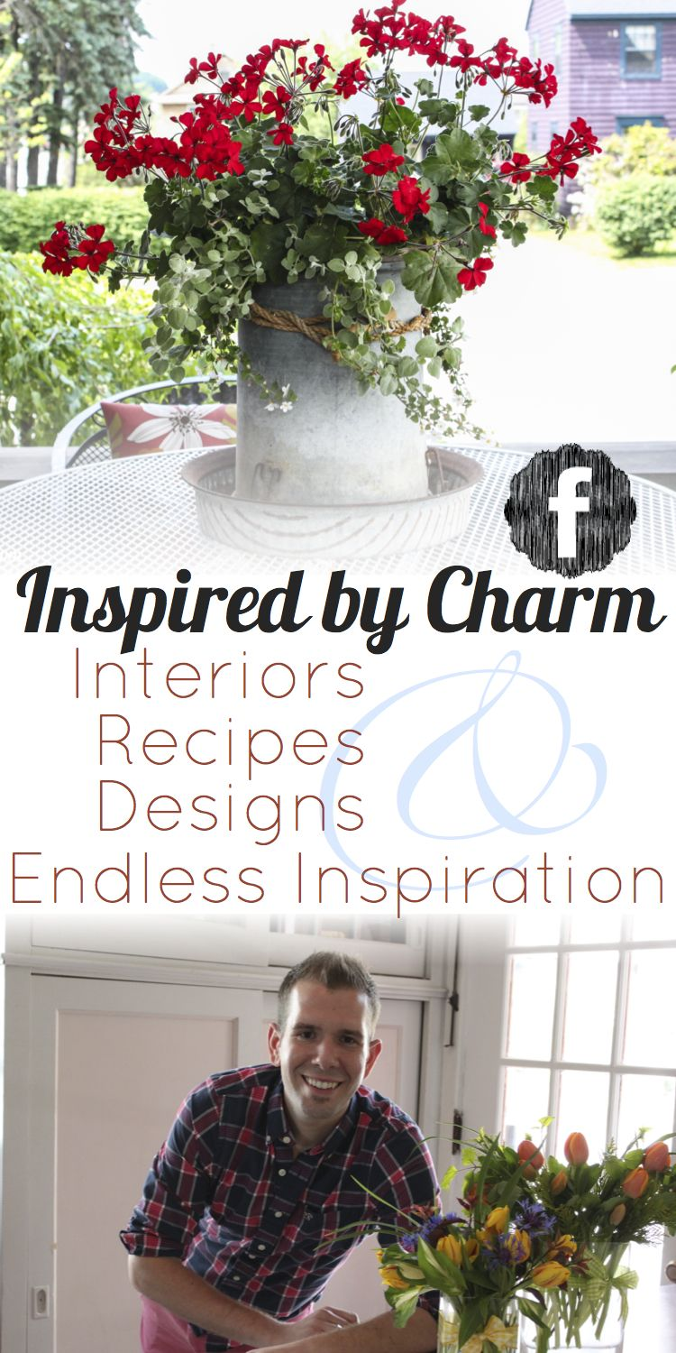 Join Michael Wurm, Jr and Inspired by Charm on Facebook for more ideas, recipes, and inspiration. Share your ideas and thoughts too! I'd love to hear from you. www.facebook.com/inspiredbycharm