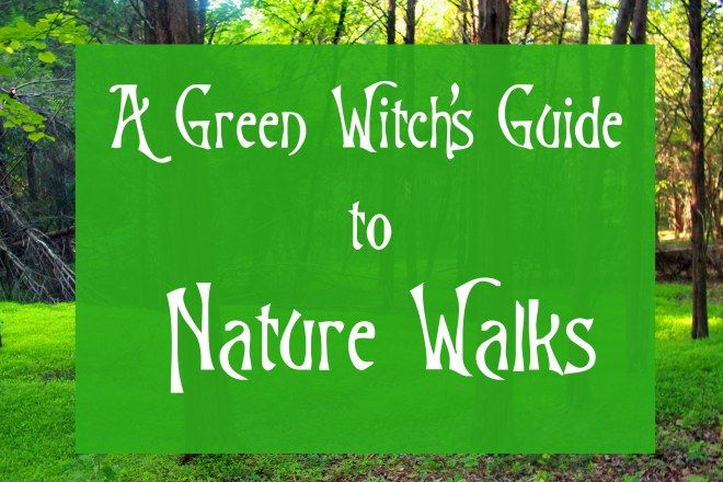 A Green Witch's Guide to Nature Walks #greenwitchcraft