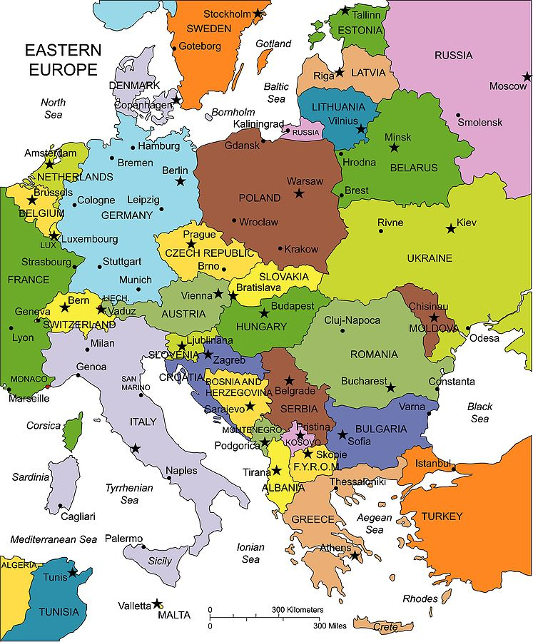 Maps Update 1213806 Map of Europe Showing Capital Cities Map – The Map of Europ