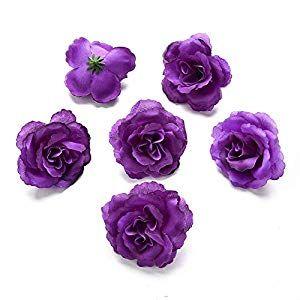 Artificial Flower Artificial Rose Silk Flower Heads for Silk Flower Wedding Decoration DIY Wr... #spraypainting
