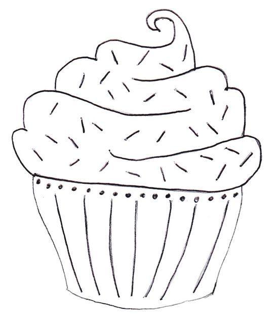 patrón bordado cupcake bollito kekito  cupcake embroidery