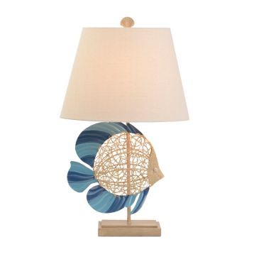Sandy blue fish table lamp bedrooms house and room sandy blue fish table lamp kirklands mozeypictures Gallery