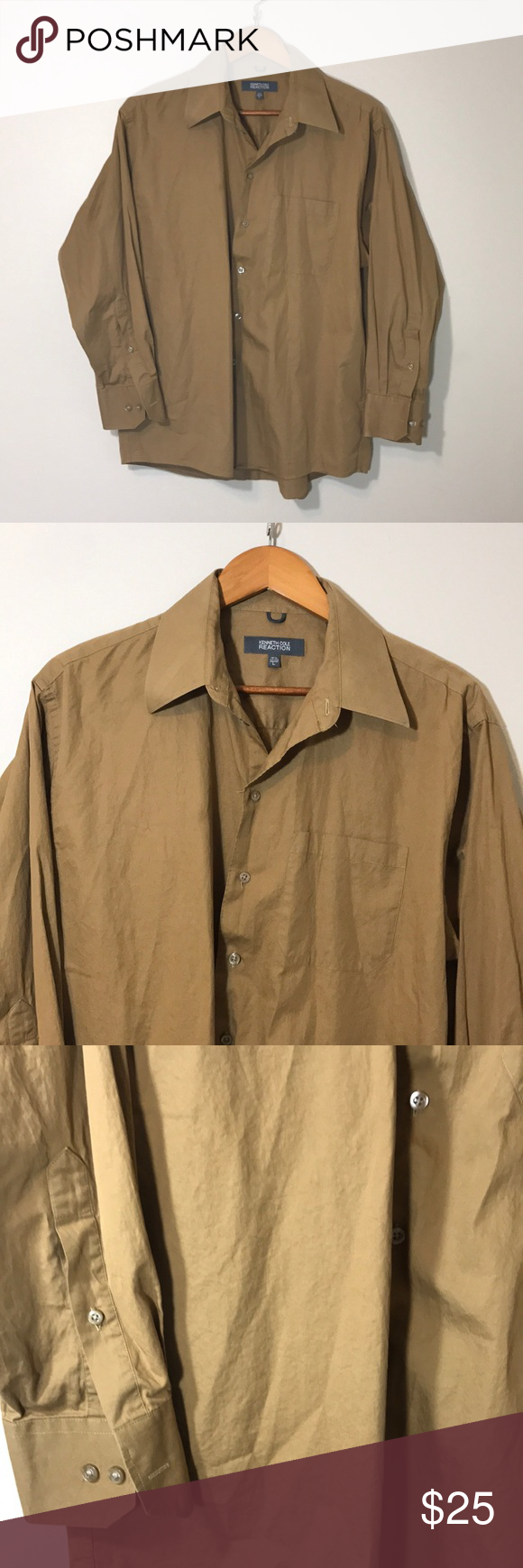 Kenneth Cole On Down Shirt Size Large Perfect Condition Chart For This Are Included In The Pictures Reaction Shirts Dress