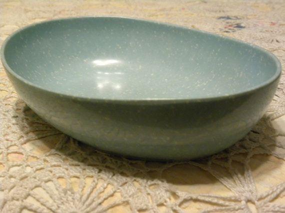 Vintage Melamine Blue Speckled Serving Bowl By Vintiquevillage 16 50 Blue Speckles Serving Bowls Speckle