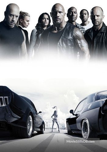 Fast Furious 8 Promotional Art With Vin Diesel Dwayne Johnson Charlize Theron Jason Statham Fast And Furious Fate Of The Furious Fast And Furious Cast