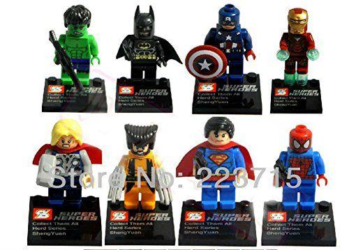 Superhero Minifigures Set Of 8 Custom Made Http Www Amazon Co Uk Dp B00shkez0g Ref Cm Sw R Pi Dp Glsevb130pdgb Mini Figures Toy Prices Superhero
