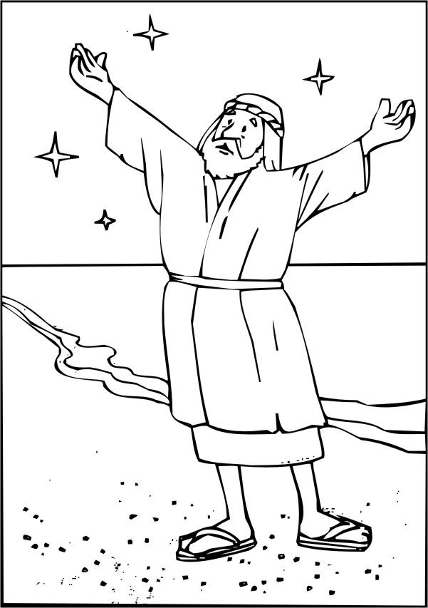 abraham coloring pages quoteko - Abraham Coloring Pages