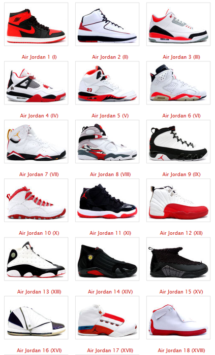 47eec7c3dac Jordans 1 to 18 | SneakerCon | Jordans, Nike shoes, Shoes