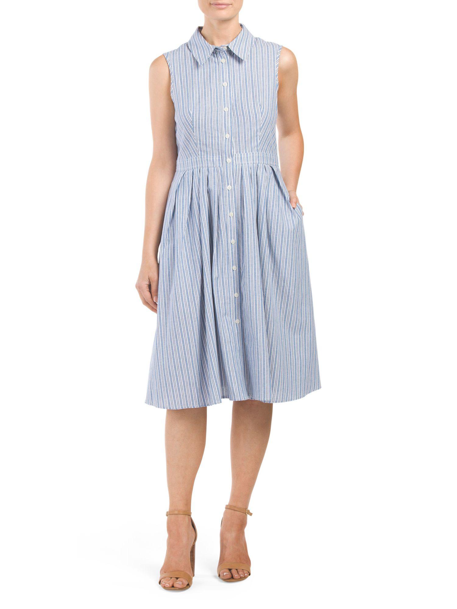 95b27101 Jones New York Oxford Stripe Midi Shirt Dress | TJ Maxx - $29 ...