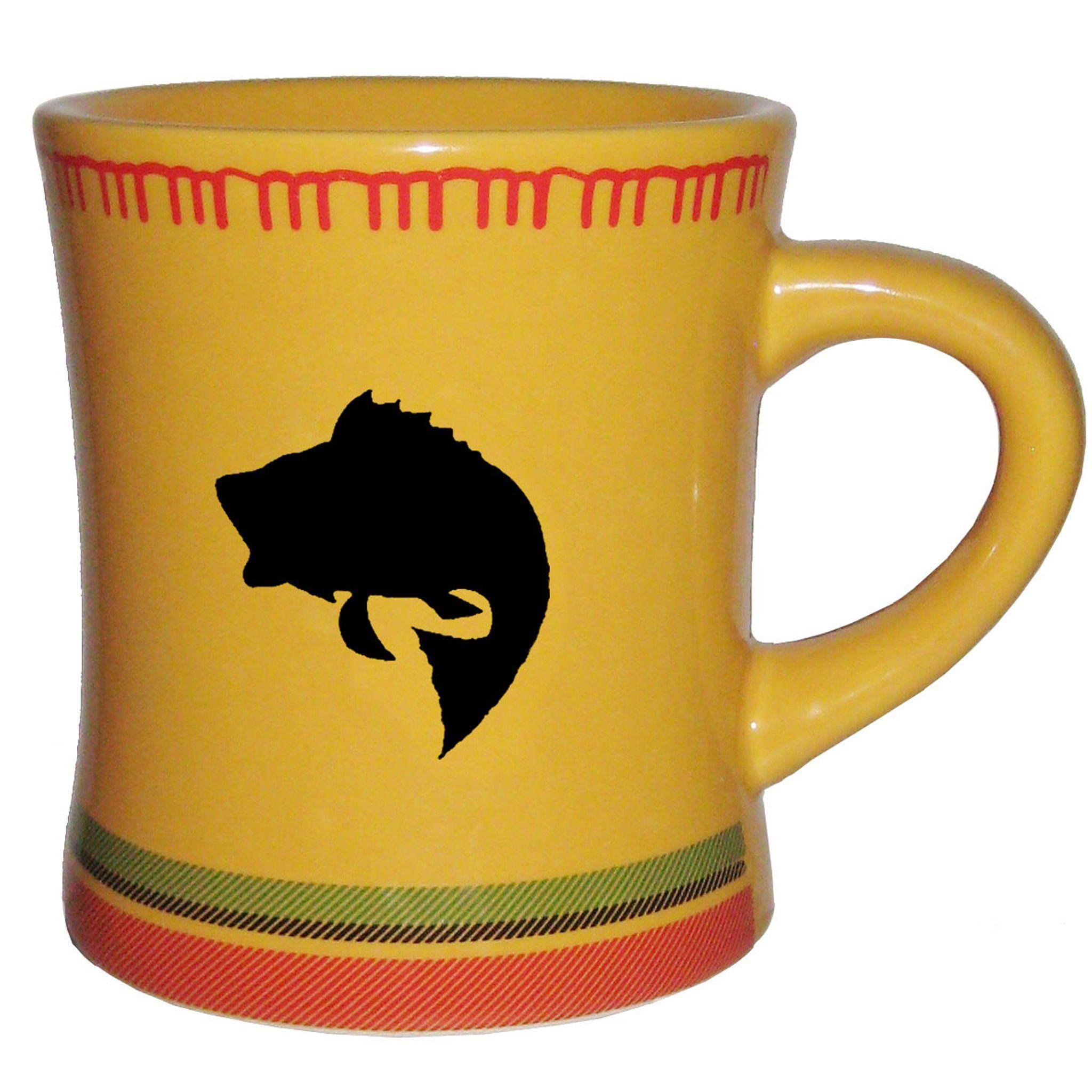 Yellow bass blanket mug Mugs, Ceramic mug, Stoneware mugs