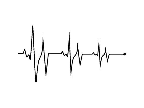 Electrocardiograph Noise Heartbeat Cardiograph Pulse Frequency Radio Svg Eps Png Vector Clipart D In A Heartbeat Pulse Tattoo Heartbeat Tattoo