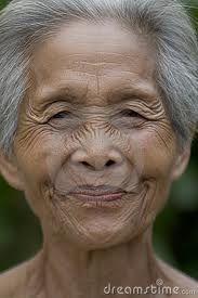 Faces of older Thai women