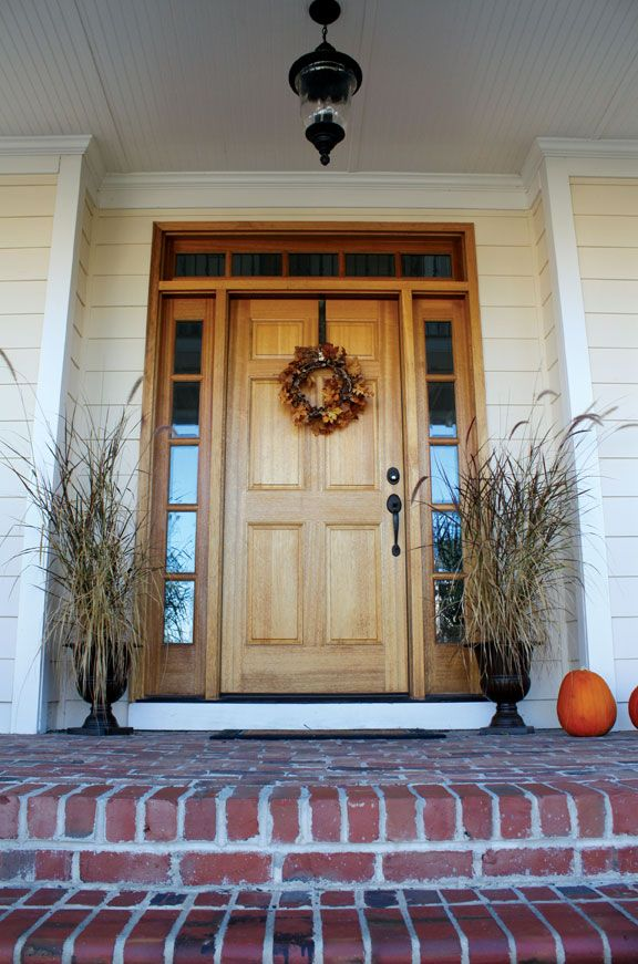 Colonial 6 Panel Door with 5LT Sidelights and Transom Square Top