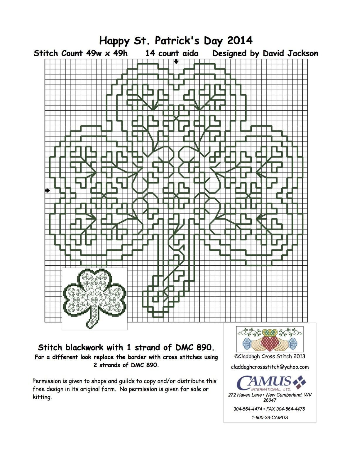 clover | cross stitch...st pats | Pinterest | Punto de cruz, Bordado ...
