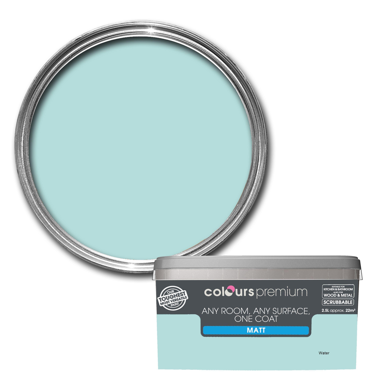 Colours Premium Any Room One Coat Water Matt Emulsion Paint 2 5l Departments Diy At B Q Colours Painting Bathroom House Color Schemes