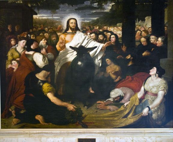 Christ S Entry Into Jerusalem By Haydon Among The Crowd