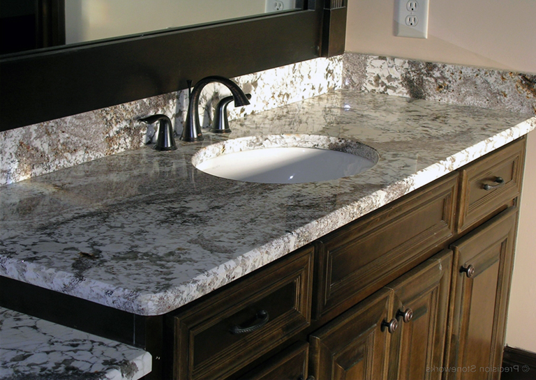 Best Delicatus White Granite Bathroom Countertops 400 x 300