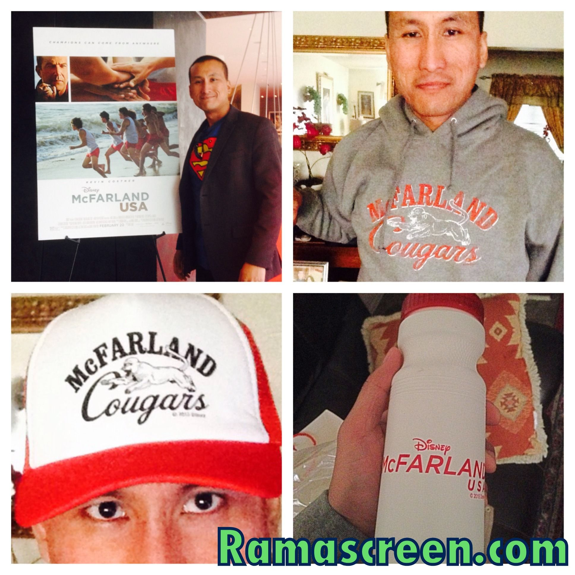 Look at these freebies (Sweatshirt, hat, CDs) that #Disney gave me at #McFarlandUSA press junket :)  Please LIKE my Facebook page at Facebook.com/ramascreen