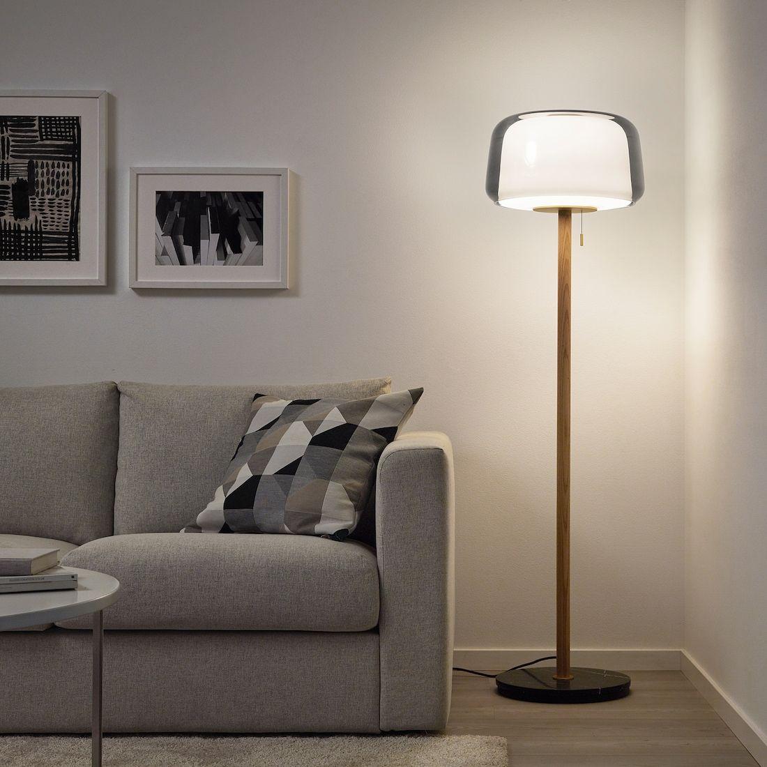 Evedal Floor Lamp Grey Marble Grey Ikea In 2020 Floor Lamp Grey Floor Lamp Lamp